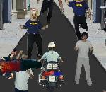 Флеш игры - Полицейский байк