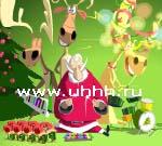 Флеш игры - Новогоднее поздравление Санты